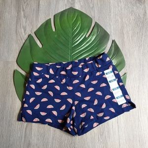 NEW Old Navy Fundy Blue Watermelon Athletic Shorts